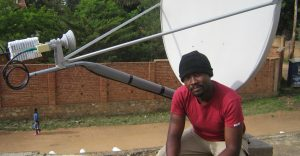 Satellite VSAT installation in Africa