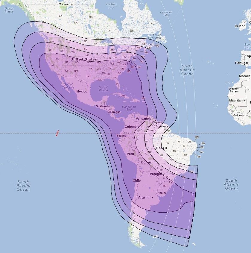 Americas VSAT Coverage – Satellite Internet