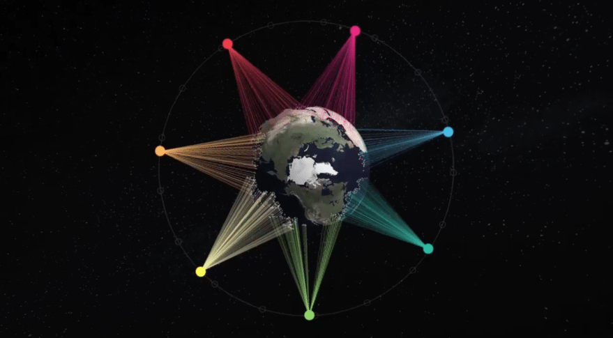 Artist's rendition of SES Network's O3b mPower constellation. Credit: SES.