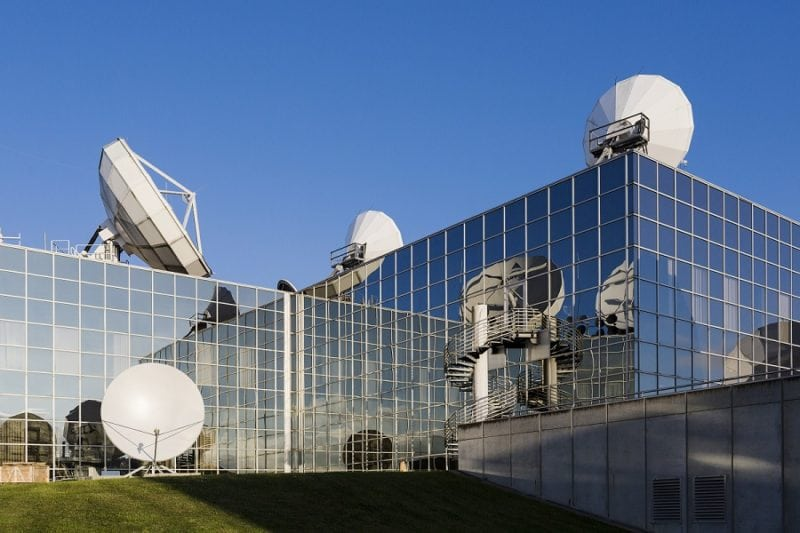SES offices with antennas